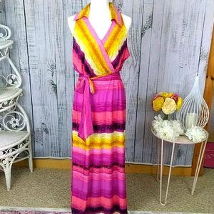 MSK Maxi Dress with Faux Wrap Bodice Size XL